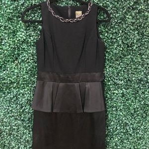 Taylor black mini dress